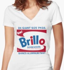 John Squire Warhol Brillo inspired tee Women's Fitted V-Neck T-Shirt