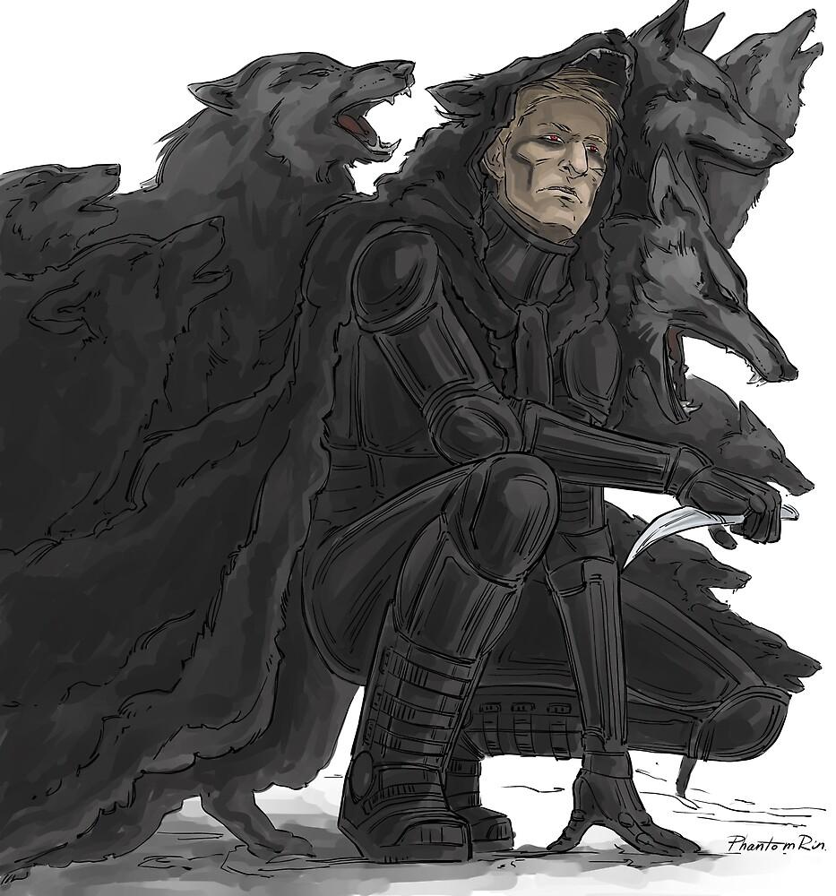 black wolves by PhantomRin