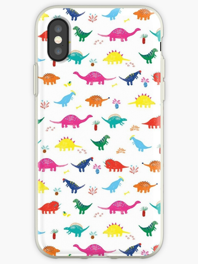Colourful Dinosaur Pattern by whatemma
