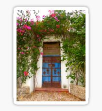 Kenyan doorway with bougainvillea Sticker