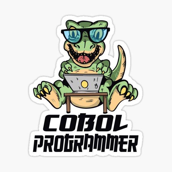 Cobol programmer dinosaur Sticker