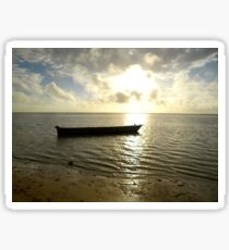 Kenyan wooden dhow at sunrise Sticker
