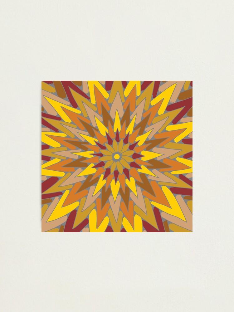 Alternate view of Starburst (warm colors) Photographic Print