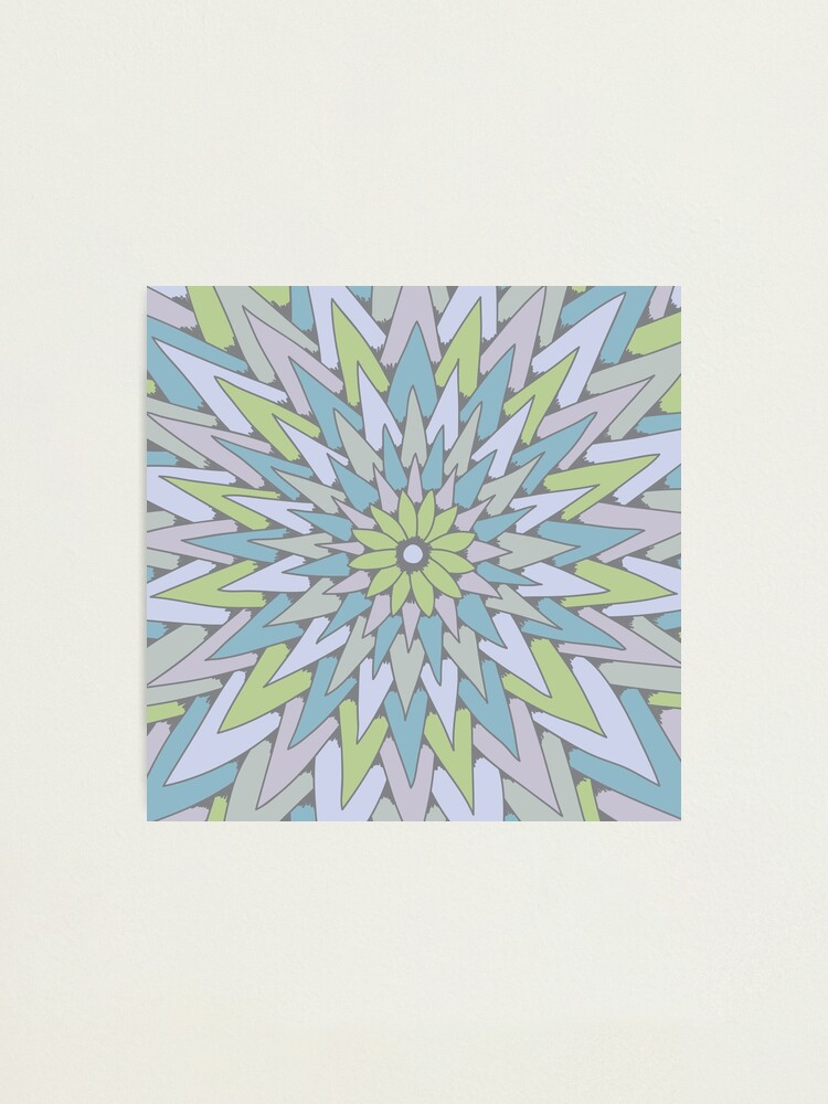 Alternate view of Starburst (cool colors) Photographic Print