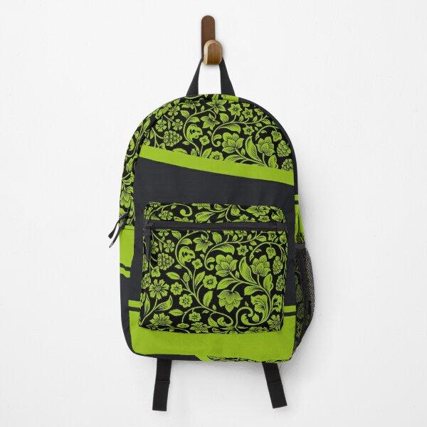 green floral design Backpack