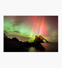 Northern Lights with Bow Fiddle Photographic Print
