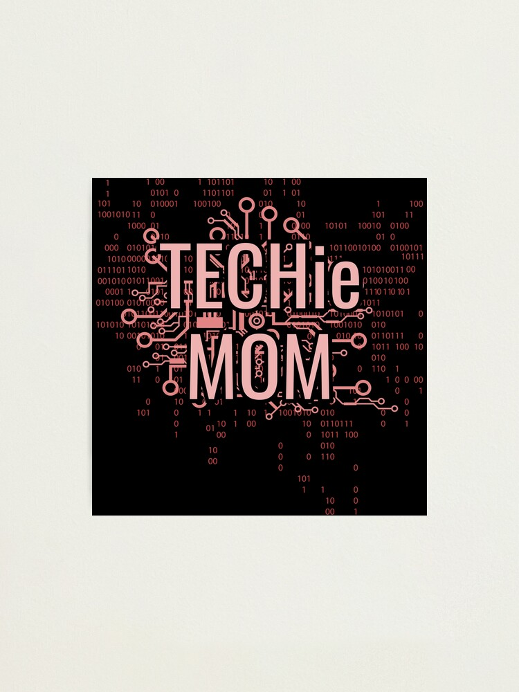 Alternate view of TECHie MOM Cyber Pink circuit Photographic Print