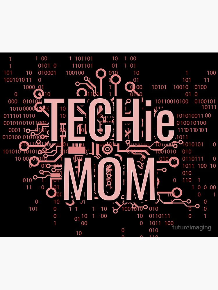 TECHie MOM Cyber Pink circuit by futureimaging