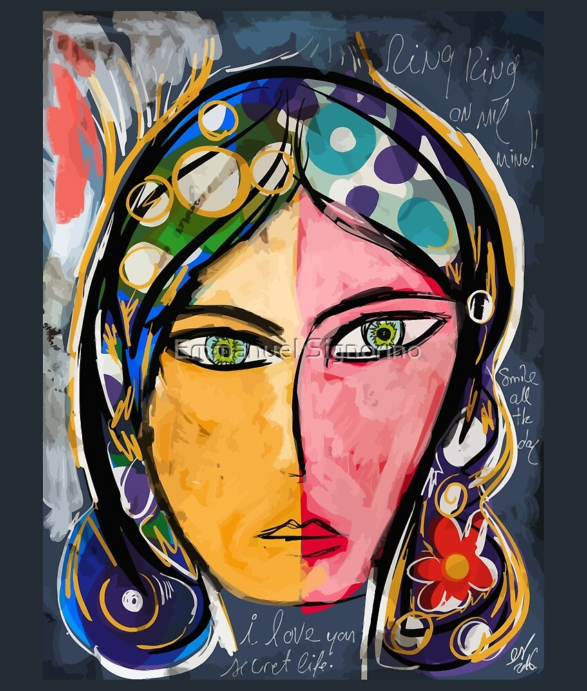 Portrait of a mystique girl by Emmanuel Signorino