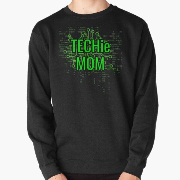 TECHie MOM Digital Green circuit Pullover Sweatshirt
