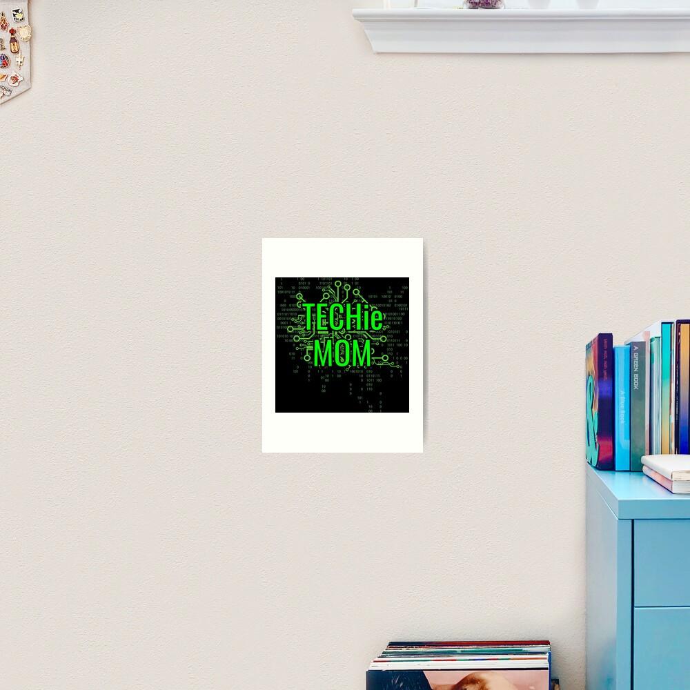 TECHie MOM Digital Green circuit Art Print