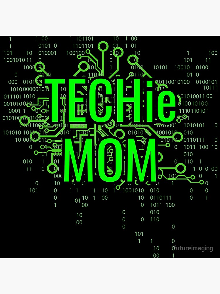 TECHie MOM Digital Green circuit by futureimaging