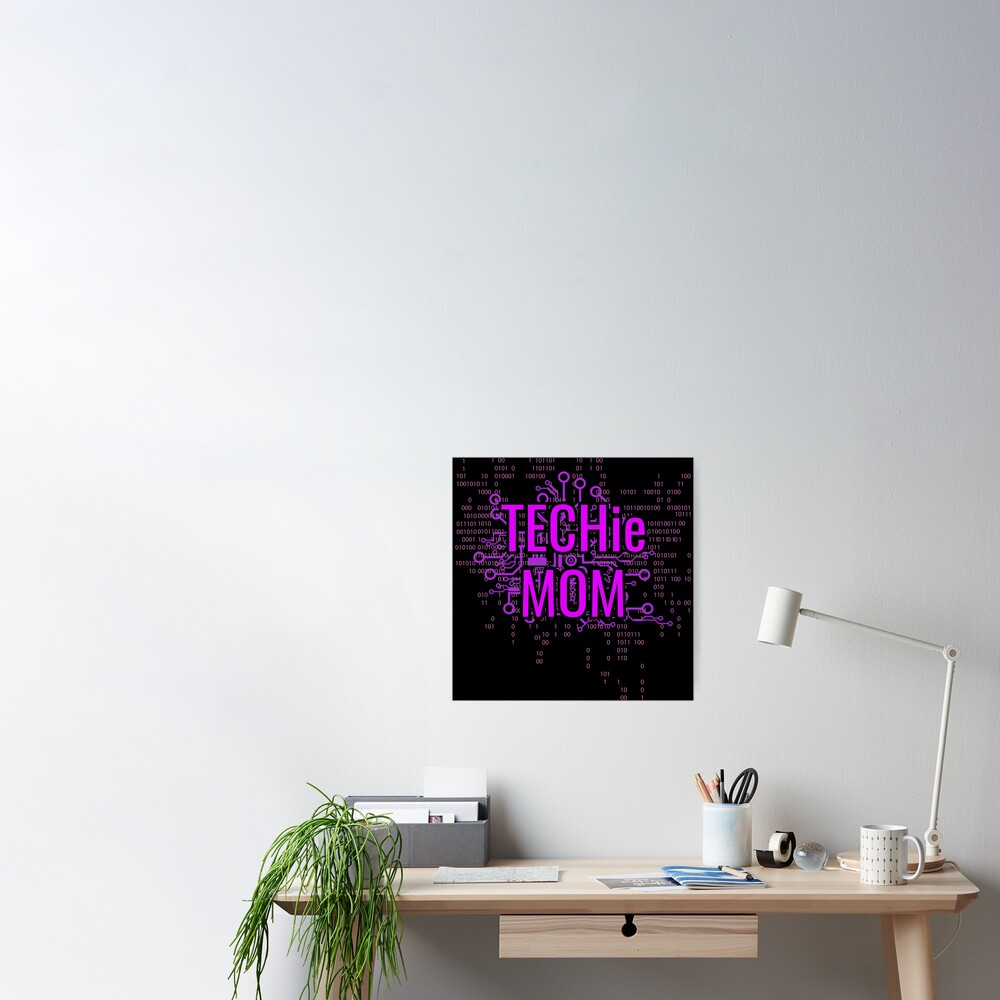 TECHie MOM Cyber Purple circuit Poster
