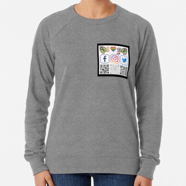Or So They Say... Pride QR  Lightweight Sweatshirt