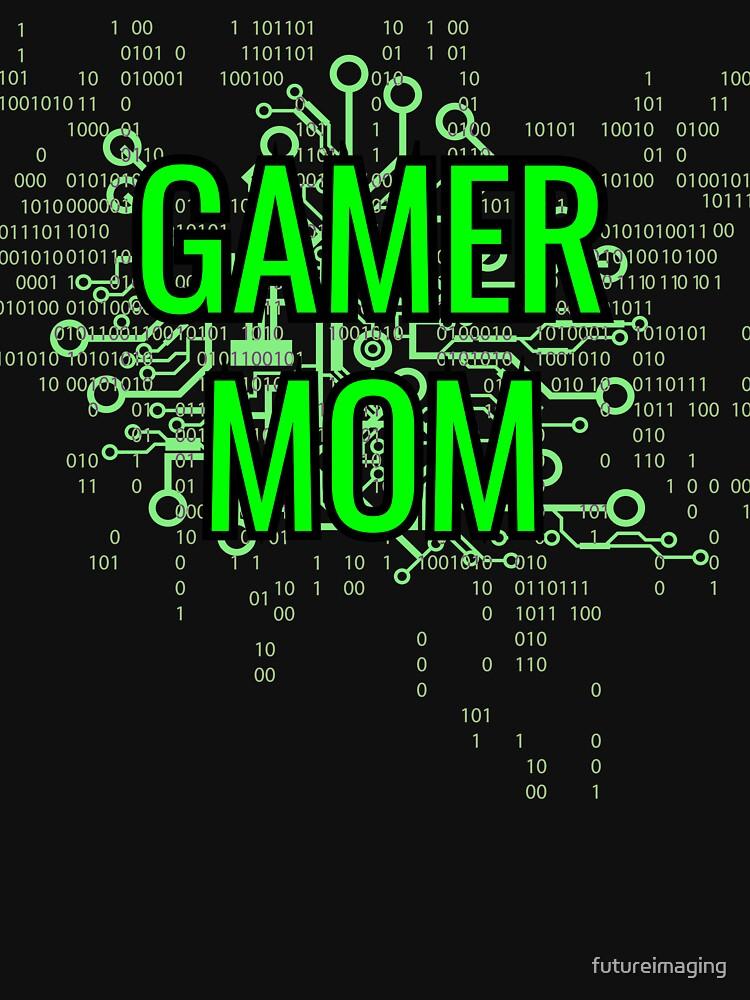 GAMER MOM Digital Green circuit by futureimaging