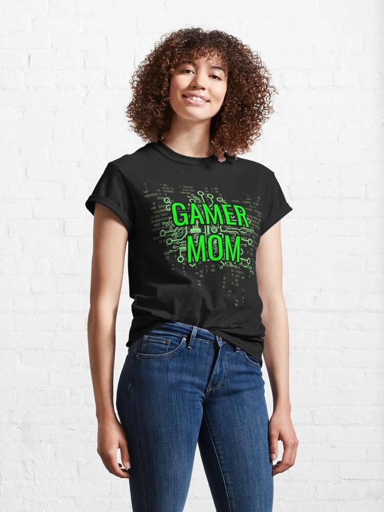 Alternate view of GAMER MOM Digital Green circuit Classic T-Shirt