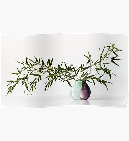 Vase With Bamboo Poster