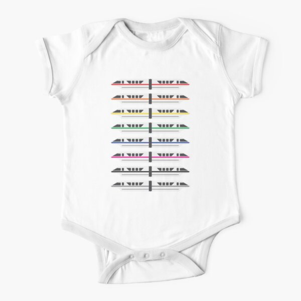 Monorails Short Sleeve Baby One-Piece