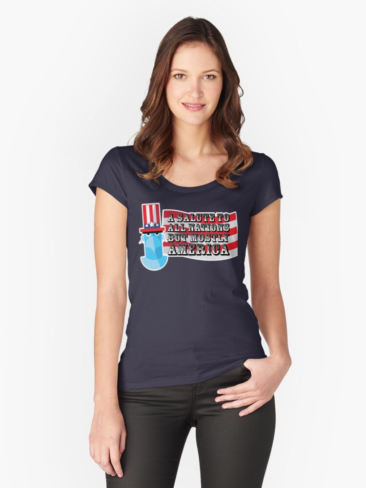 July 4th Women's Fitted Scoop T-Shirt Front