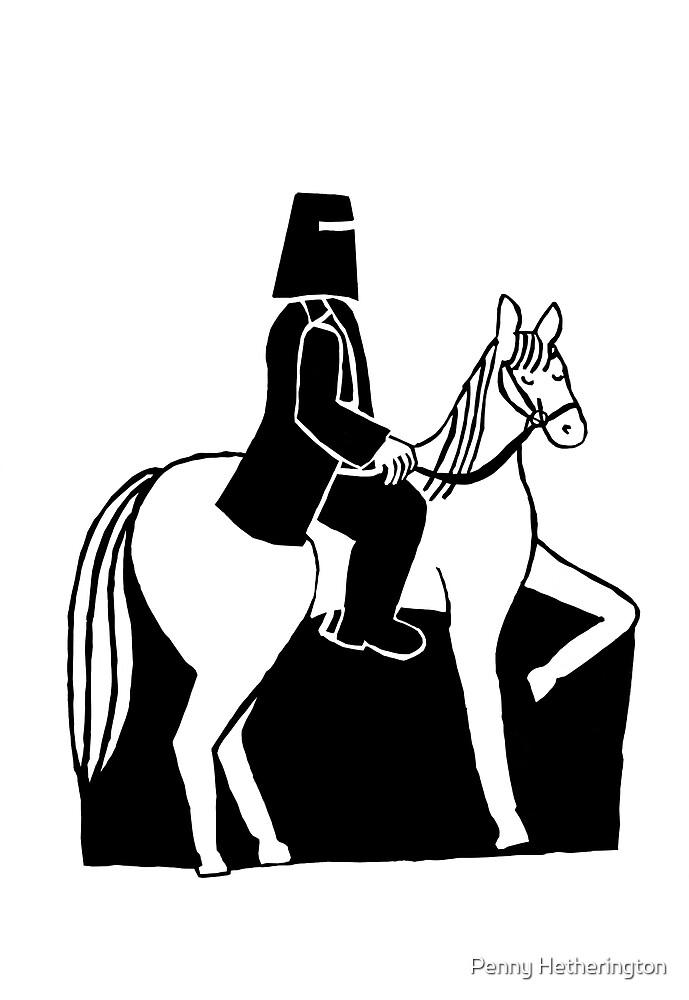 Ned Kelly Riding His Horse by Penny Hetherington