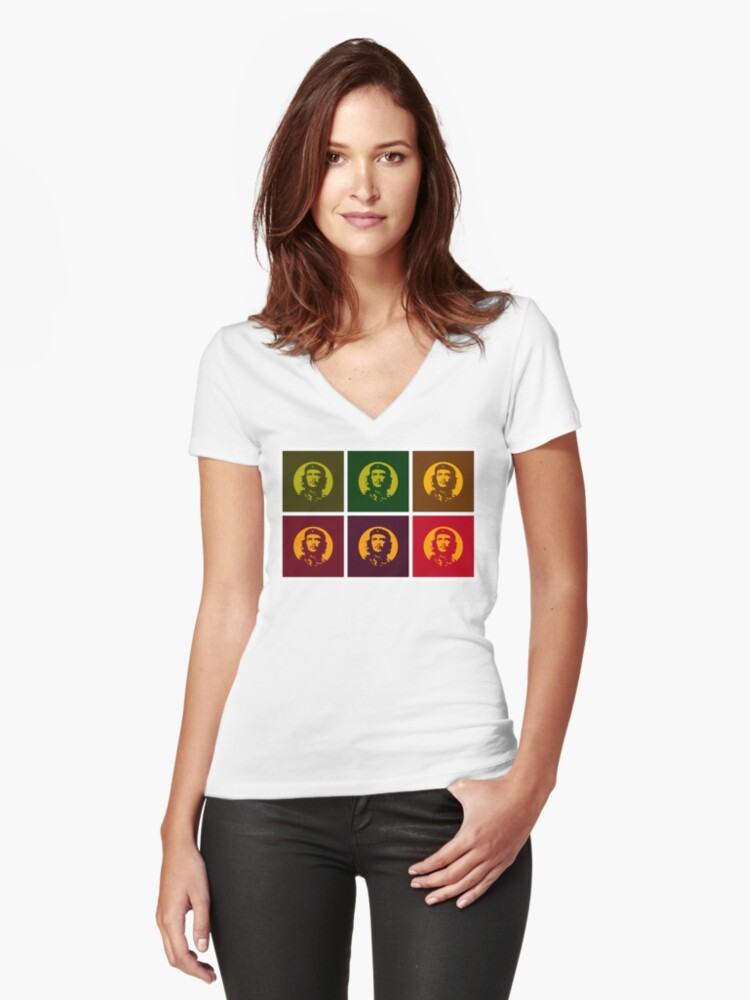 Che is all Women's Fitted V-Neck T-Shirt Front