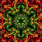 Peppy red and green pepper mandala by rvjames