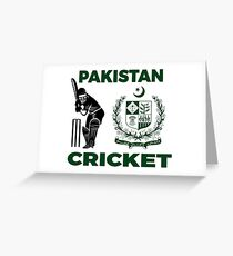 Pakistan Cricket Greeting Card