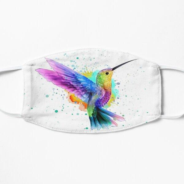 Hummingbird in Watercolor DreamscapesbyTeresa Flat Mask