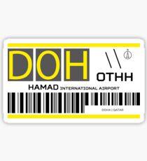 Destination Doha Airport Sticker