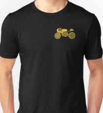 Retro Cafe Racer Bike - Yellow Slim Fit T-Shirt