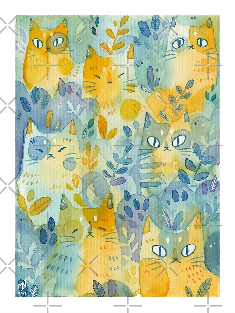 Kitties In the Moss by kattvalk