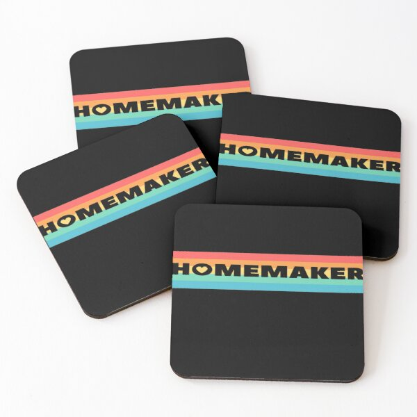 Homemaker colorful design Coasters (Set of 4)