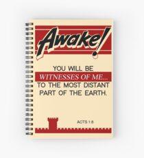 Jahrgang: Altes Erwachen mit Apostelgeschichte 1: 8 Spiralblock