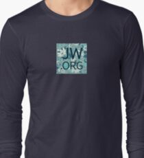 JW.org (white and blue flowers) Long Sleeve T-Shirt