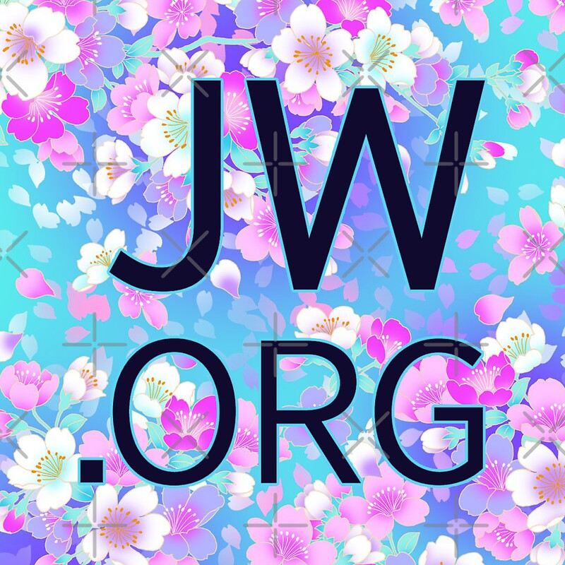 Quot Jw Org Bright Blue And Pink Flowers Quot Stickers By Jw Stuff Redbubble