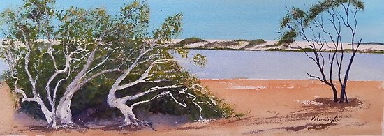 Coorong watercolour by Kay Cunningham