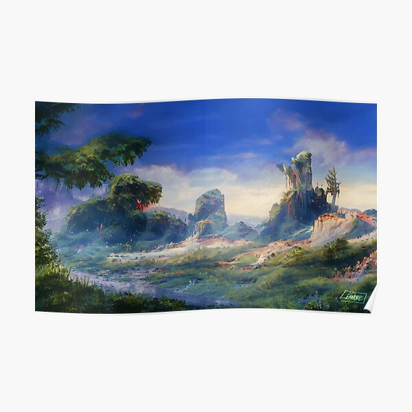 Peaceful & Lush Poster