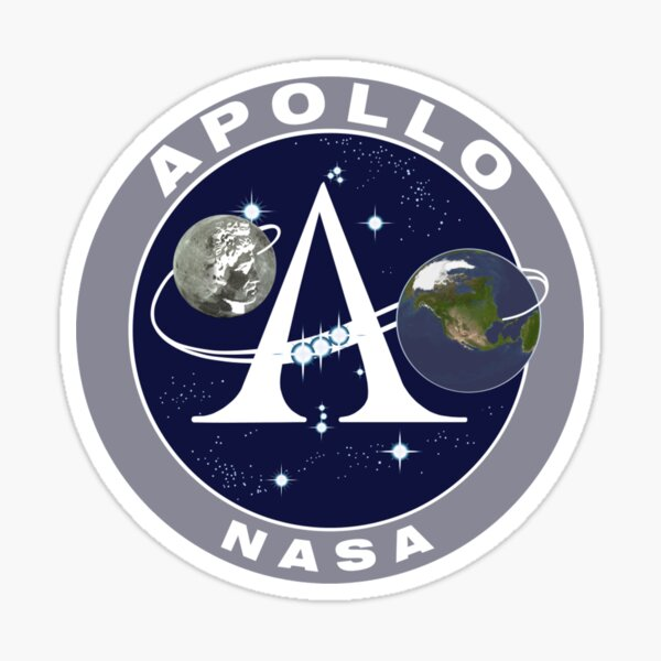 Apollo NASA Sticker
