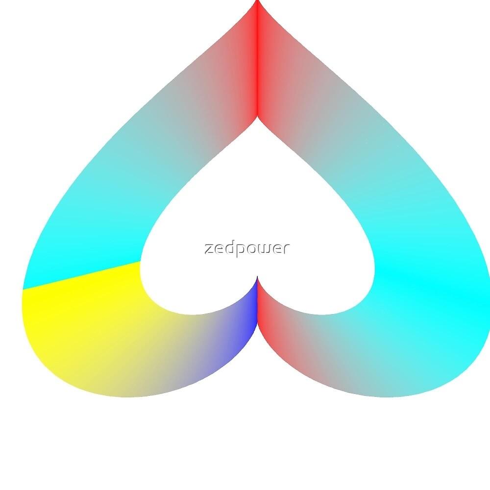 Upside Down Rainbow Heart by zedpower