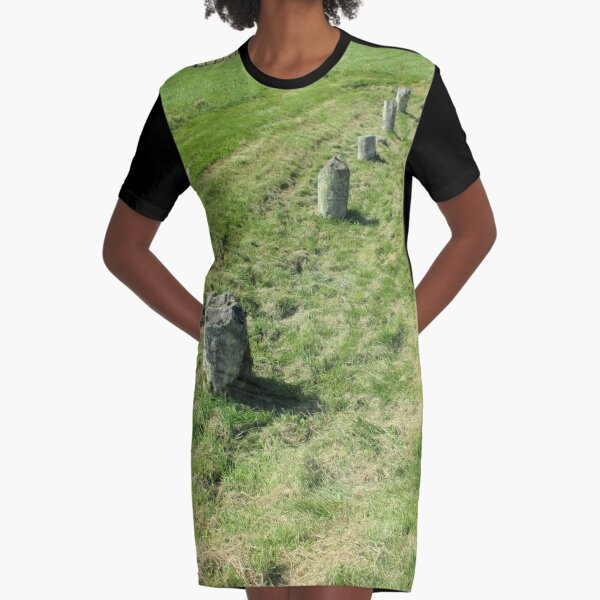 M.I. #120 |☼| Countrytide Breakers (Hadrian's Wall) Graphic T-Shirt Dress