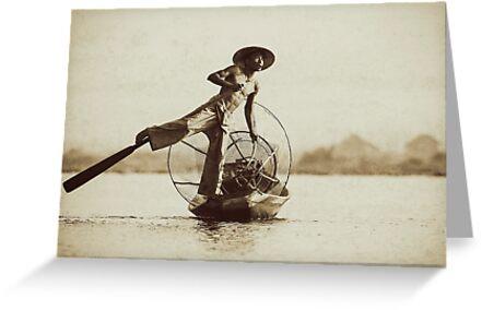 Leg Oar Fisherman - Inle Lake, Myanmar by JamesKaoFoto