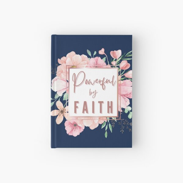 Elegant Rose Gold | Powerful By Faith Hardcover Journal