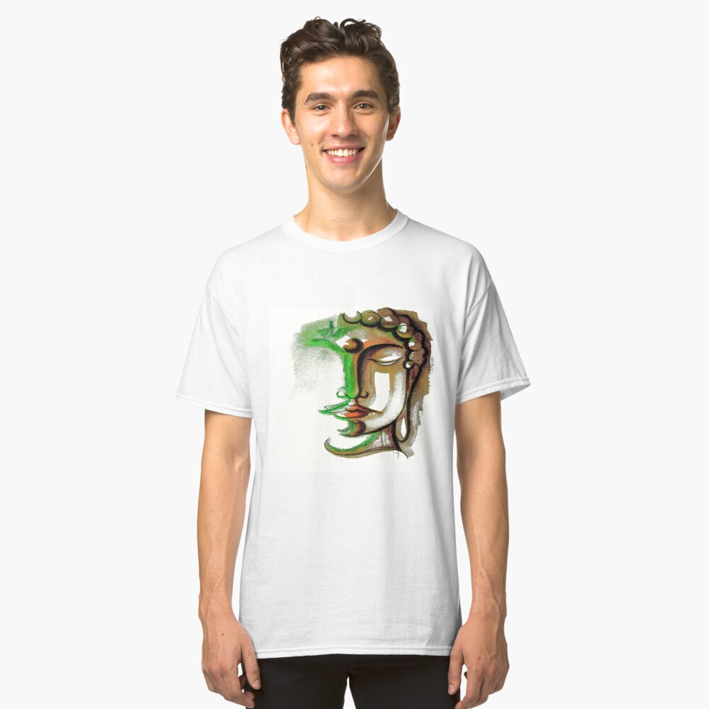 BUDDHA FACE 1 Classic T-Shirt Front