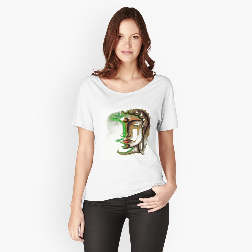 BUDDHA FACE 1 Women's Relaxed Fit T-Shirt Front