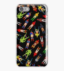 Superhero Butts Pattern on Black iPhone Case/Skin