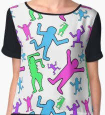 Keith Haring Inspired Pop Art Pattern Chiffon Top