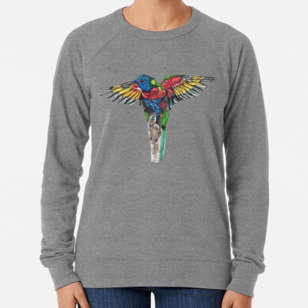 Delilah the Rainbow Lorikeet Lightweight Sweatshirt
