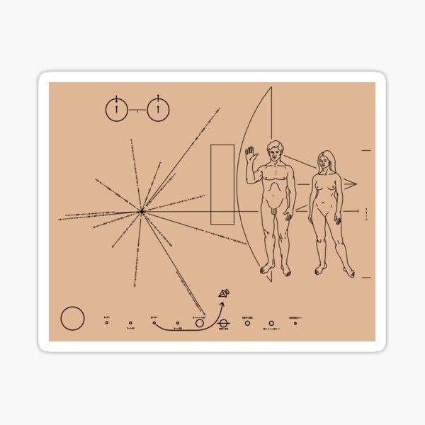 Pioneer Plaque Sticker