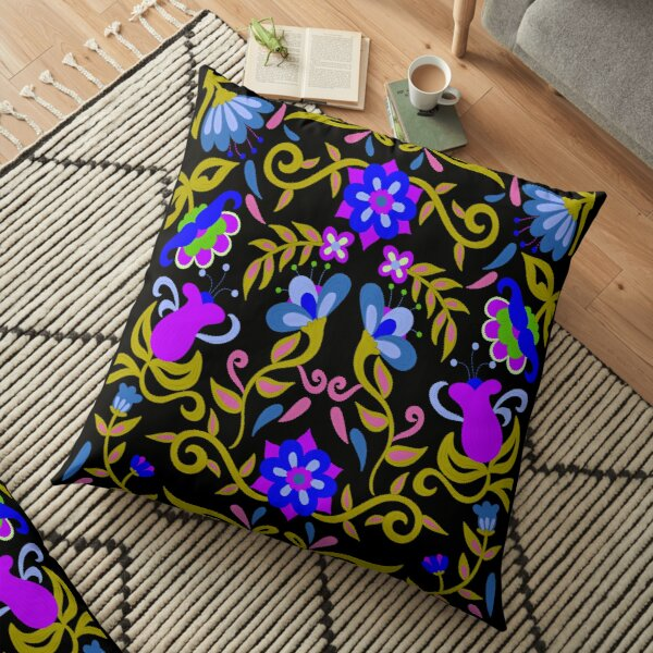Mexican Flowers Floor Pillow