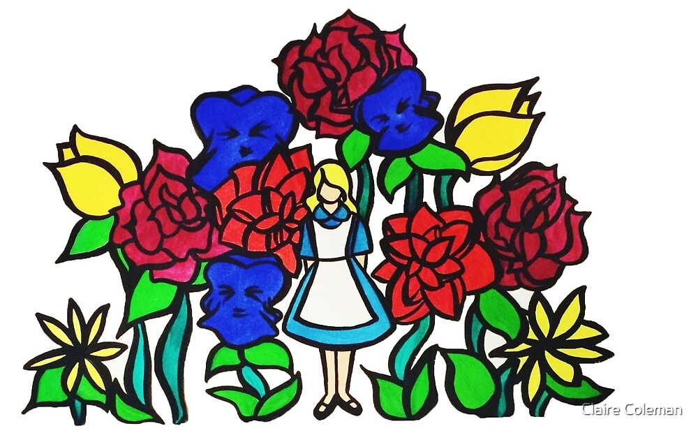 Alice in Wonderland Color Illustration by Claire Coleman